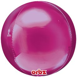 "Bright Pink Birthday Orbz Balloon - 16""-18"" Foil"