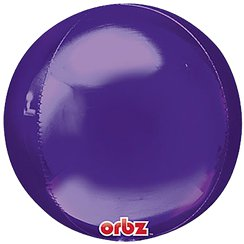 Purple Birthday Orbz Balloon - 25