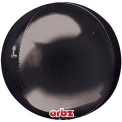 "Black Birthday Orbz Balloon - 16""-18"" Foil"