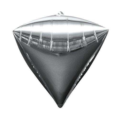 Diamondz Silver Diamond Shaped Balloon - 17