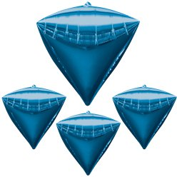 Diamondz Blue Diamond Shaped Balloon - 24