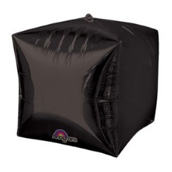 "Cubez Black Cube Shaped Balloon - 15"" Foil - unpackaged"