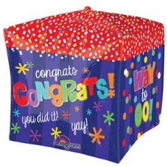 "Cubez Way To Go Congratulations Balloon - 15"" Foil"