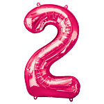 "Pink Number 2 Balloon - 34"" Foil"