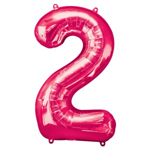 Pink Number 2 Balloon - 34