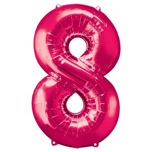 Pink Number 8 Balloon - 34