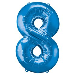 Blue Number 8 Balloon - 34