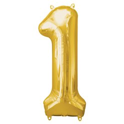 Gold Number 1 Balloon - 34