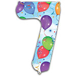"Streamers Number 7 Giant Balloon - 34"" Foil"
