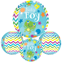"Sweet Baby Boy Orbz Balloon - 25"" - Foil"