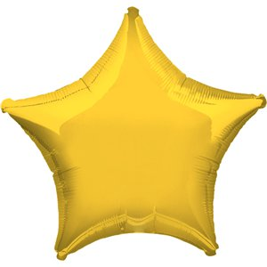 "Yellow Star Balloon - 19"" Foil"