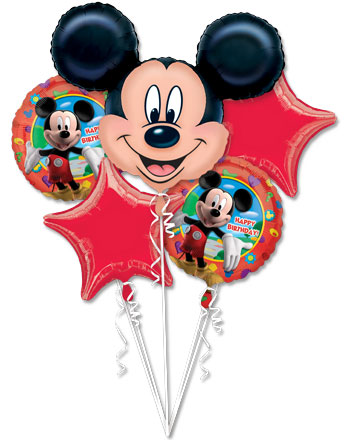 Mickey Mouse Balloon Bouquet - Assorted Foil