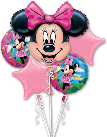 Minnie Mouse Balloon Bouquet - Assorted Foil