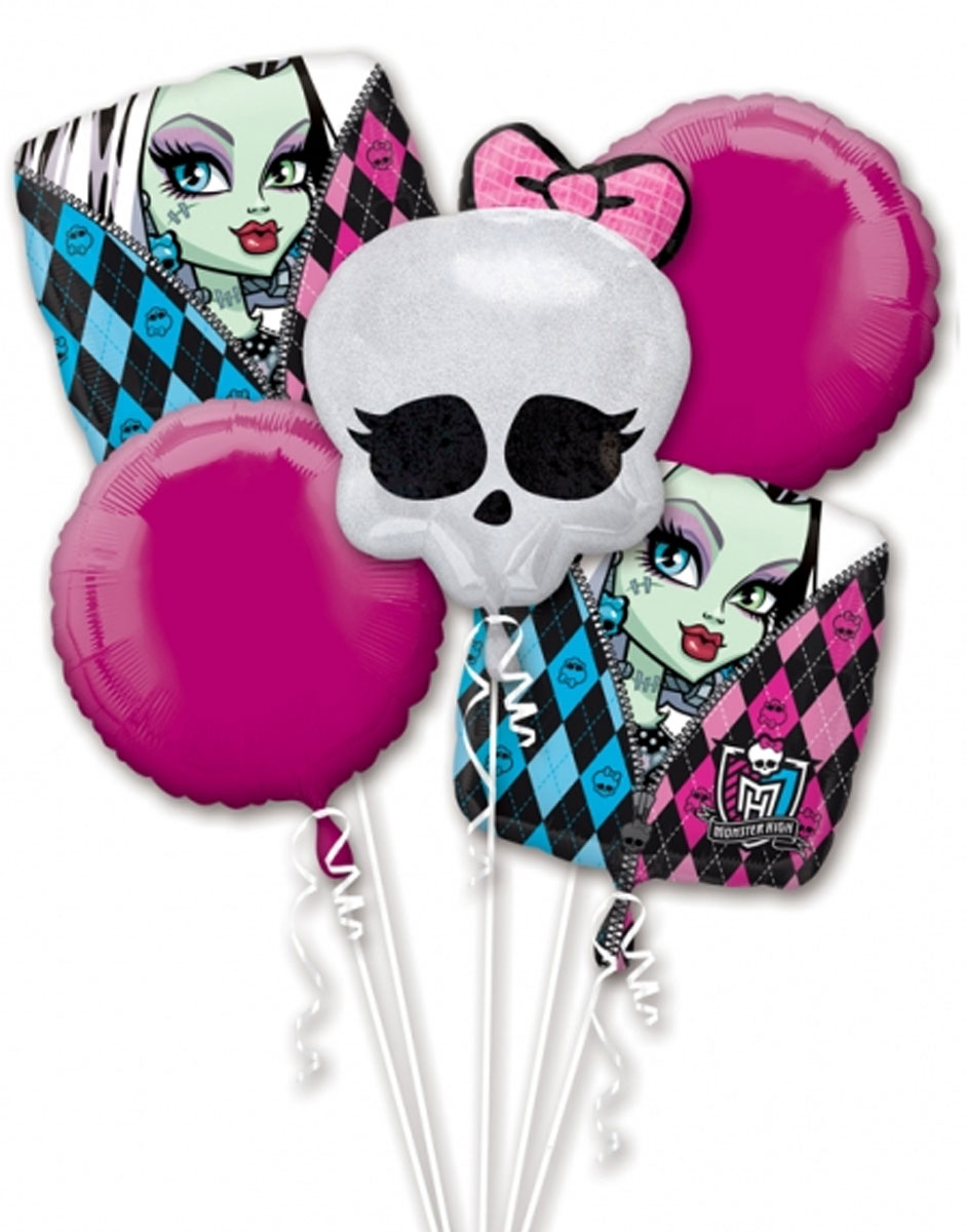 Monster High Balloon Bouquet - Assorted Foil
