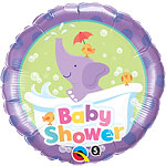 "Baby Shower Elephant Balloon - 18"" Foil"