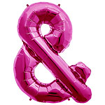 "Magenta & Shaped Balloon - 34"" Foil"