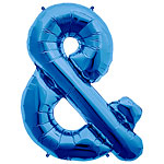 "Blue & Shaped Balloon - 34"" Foil"