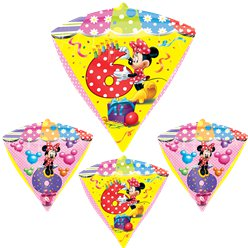 Diamondz Minnie Mouse 6th Birthday Balloon - 24'' Foil