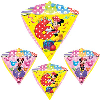 Diamondz Minnie Mouse 6th Birthday Balloon - 24