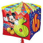 "Cubez Mickey Mouse 6th Birthday Balloon - 24"" Foil"