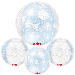 Frozen Snowflakes Orbz Balloon - 25'' Long Lasting
