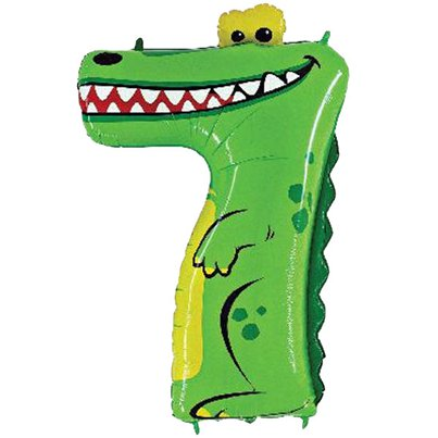 "Crocodile Number 7 Balloon - 40"" Zooloon Foil"