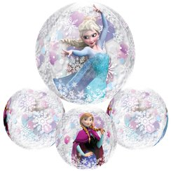 "Disney Frozen Clear Orbz Balloon - 16""-18"" Foil"