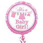 "With Love Baby Girl - 18"" Foil"