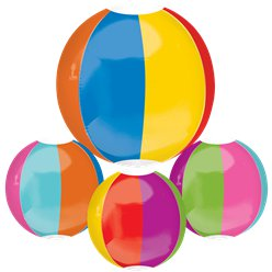 "Beach Ball Orbz Balloon - 16"" Foil"