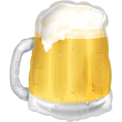 "Beer Mug Supershape Balloon - 23"" Foil"