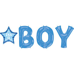 "It's A Boy Balloon Bunch - 34"" Foil"