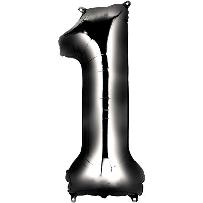 Black Number 1 Balloon - 34