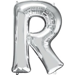 "Silver Letter R Balloon - 16"" Foil"