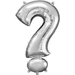 "Silver ? Shaped Balloon - 16"" Foil"