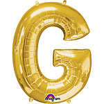 "Gold Letter G Balloon - 16"" Foil"