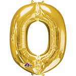 "Gold Letter O Balloon - 16"" Foil"