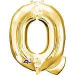"Gold Letter Q Balloon - 16"" Foil"