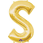 "Gold Letter S Balloon - 16"" Foil"