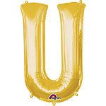 "Gold Letter U Balloon - 16"" Foil"