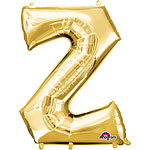 "Gold Letter Z Balloon - 16"" Foil"