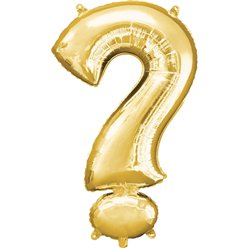 "Gold ? Shaped Balloon - 16"" Foil"