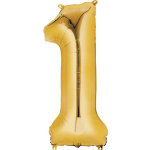 Gold Number 1 Balloon - 16