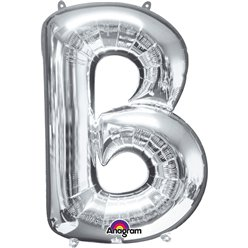 Silver Letter B Balloon - 34