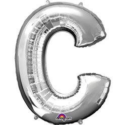 Silver Letter C Balloon - 34
