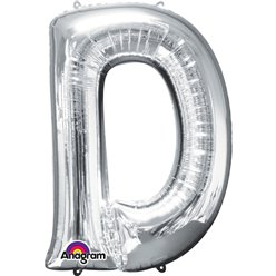 Silver Letter D Balloon - 34