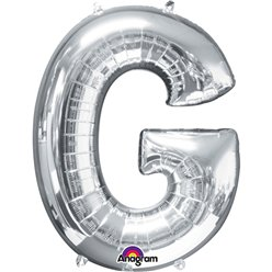 Silver Letter G Balloon - 34