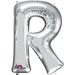 Silver Letter R Balloon - 34