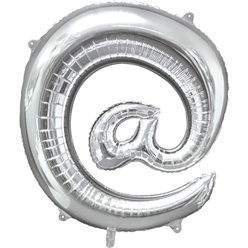 "Silver At Shaped Balloon - 34"" Foil"