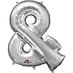 "Silver & Shaped Balloon - 34"" Foil"
