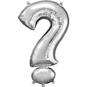 Silver ? Shaped Balloon - 34